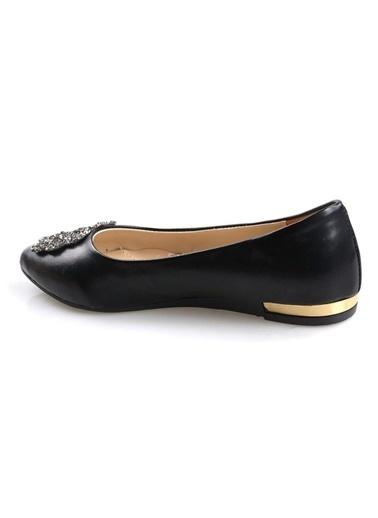 Papuçcity Siyah Bayan Günlük Babet Ayakkabı Siyah